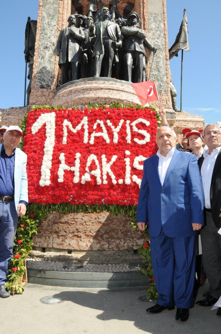 İSTANBUL TAKSİM 2016, 1 MAYIS ANMA ve KARANFİL BIRAKMA