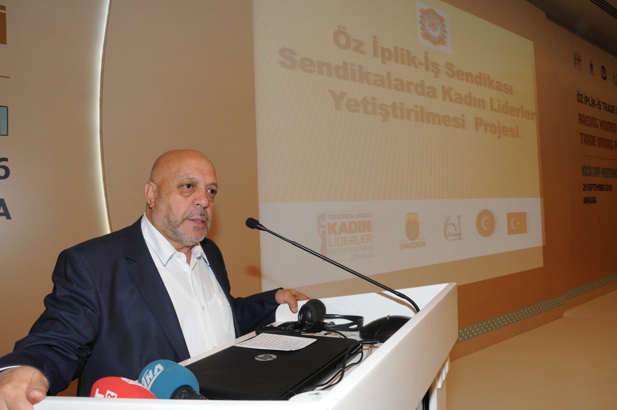 ARSLAN, ÖZ İPLİK İŞ SENDİKASININ PROJE TOPLANTISINA KATILDI