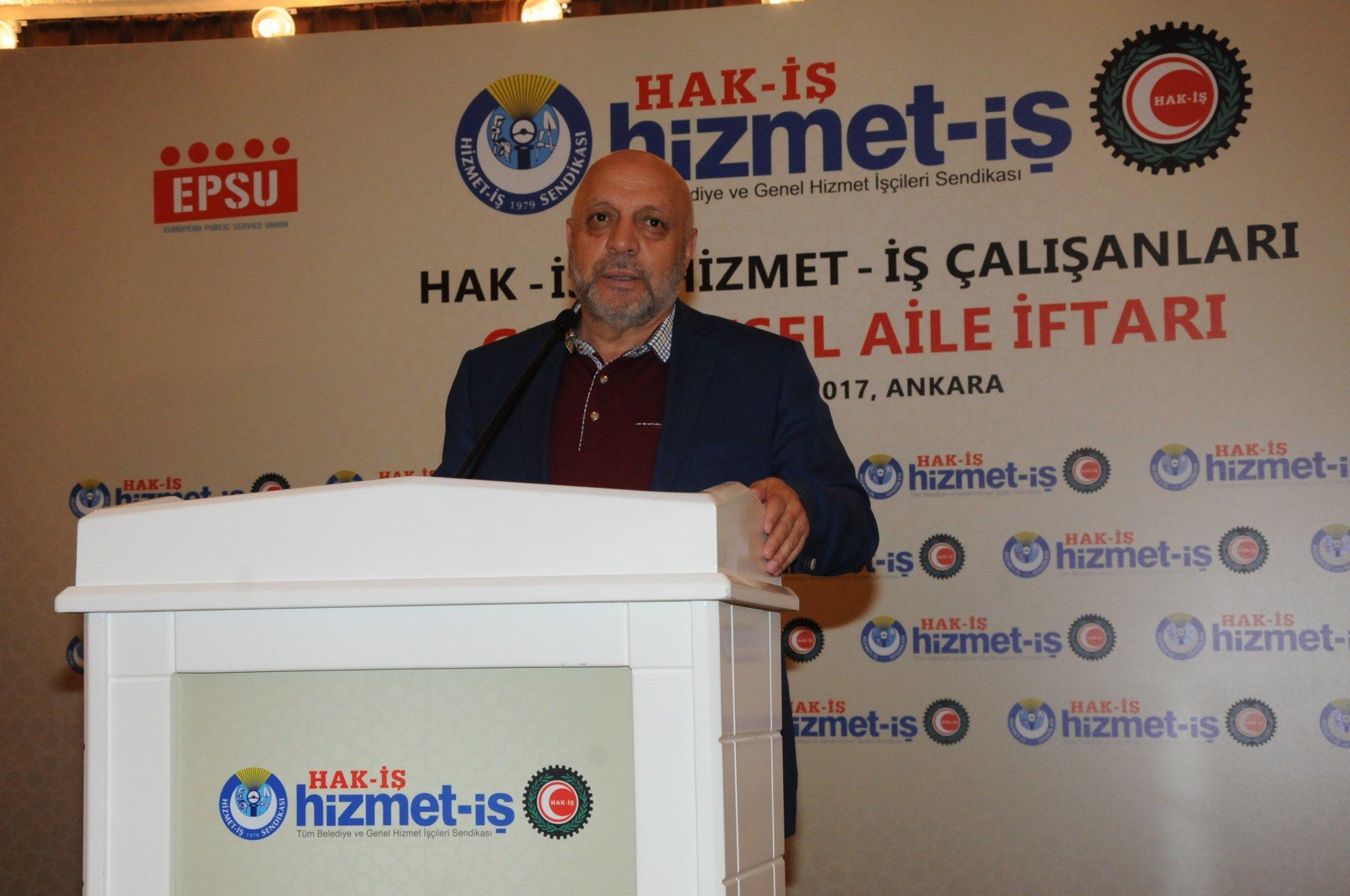 ARSLAN, HAK-İŞ, HİZMET-İŞ AİLE İFTARINA KATILDI