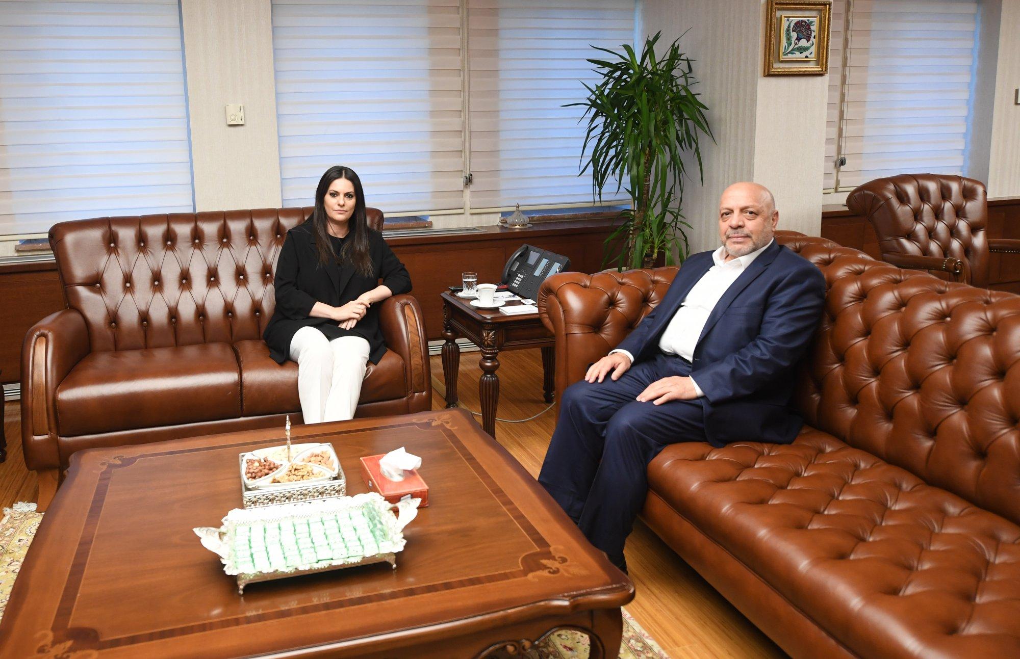 ARSLAN'DAN, ÇSGB BAKANI'NA HAYIRLI OLSUN ZİYARETİ