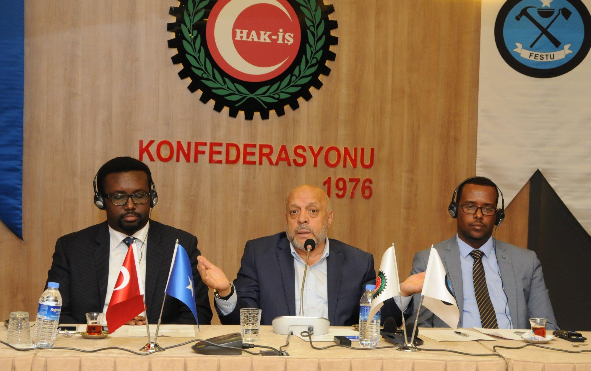 SOMALİ FESTU HEYETİNİ HAK-İŞ'TE AĞIRLADIK