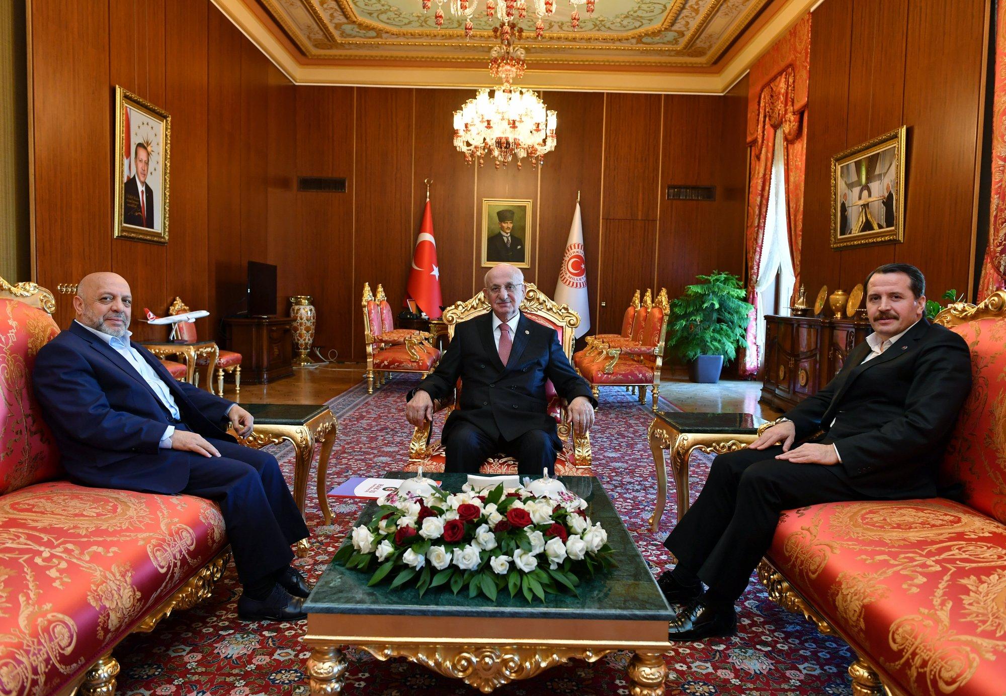 ARSLAN, TBMM BAŞKANI KAHRAMAN'I ZİYARET ETTİ