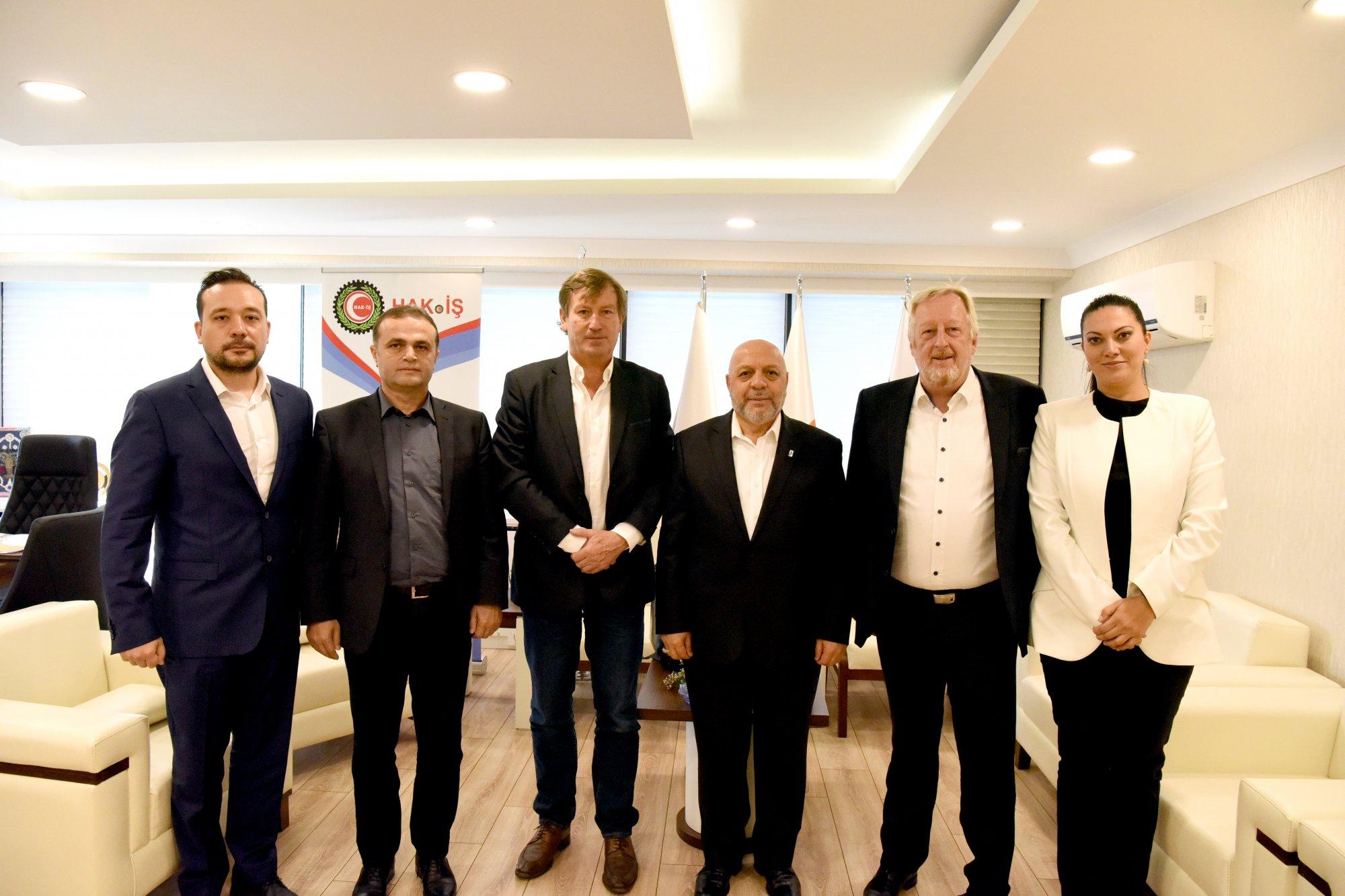 ITUC VE ETUC TEMSİLCİLERİ HAK-İŞ'İ ZİYARET ETTİ