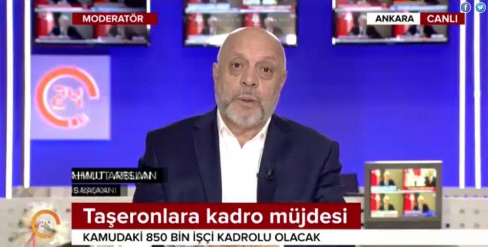 ARSLAN, YENİ TAŞERON DÜZENLEMESİNİ 24 TV EKRANLARINDA DEĞERLENDİRDİ