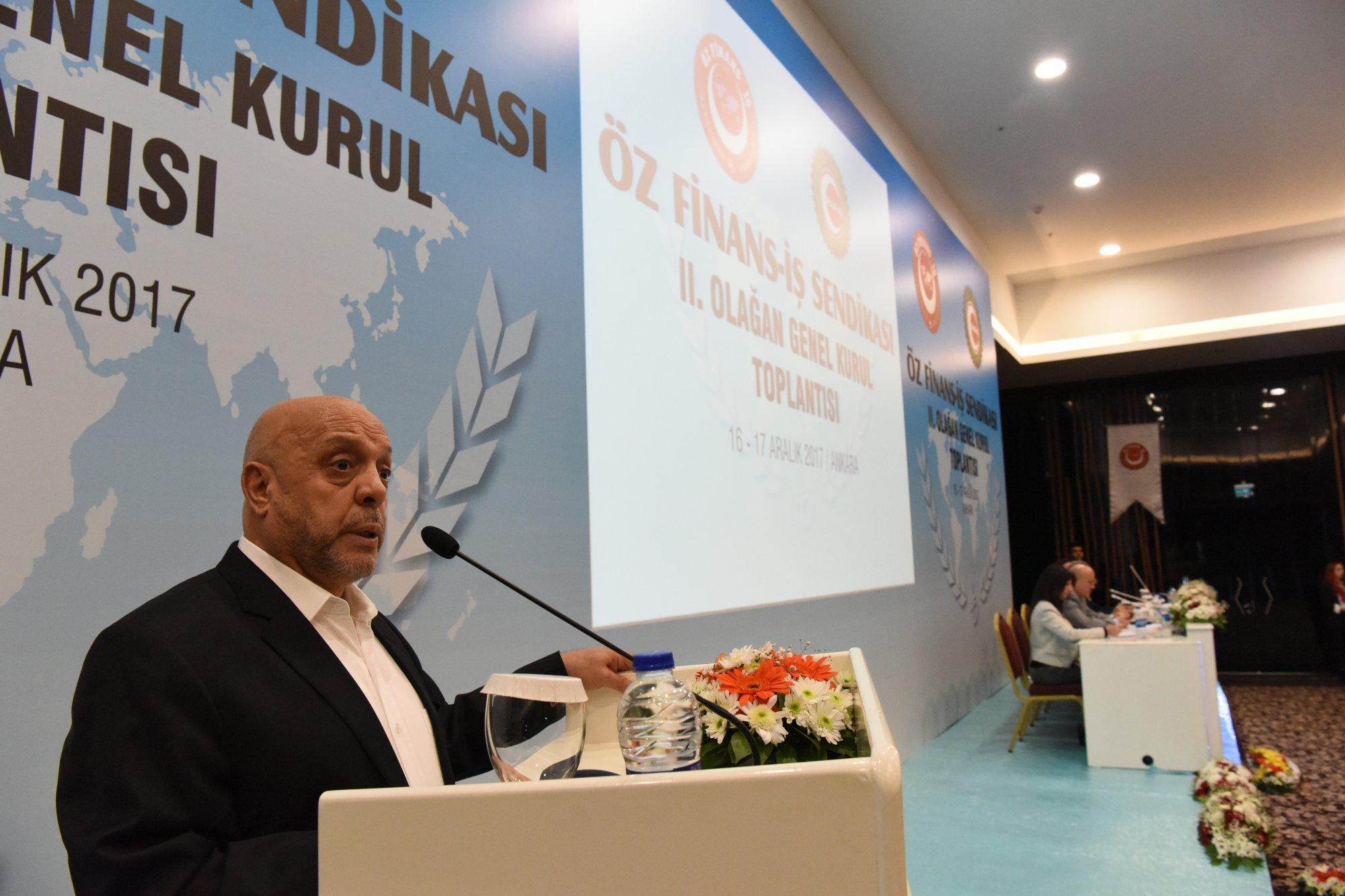 ARSLAN, ÖZ FİNANS-İŞ 2. GENEL KURULU'NA KATILDI