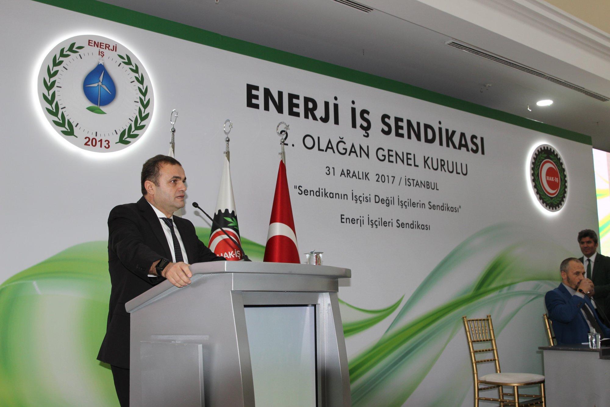 YILDIZ, ENERJİ-İŞ SENDİKASI GENEL KURULUNA KATILDI