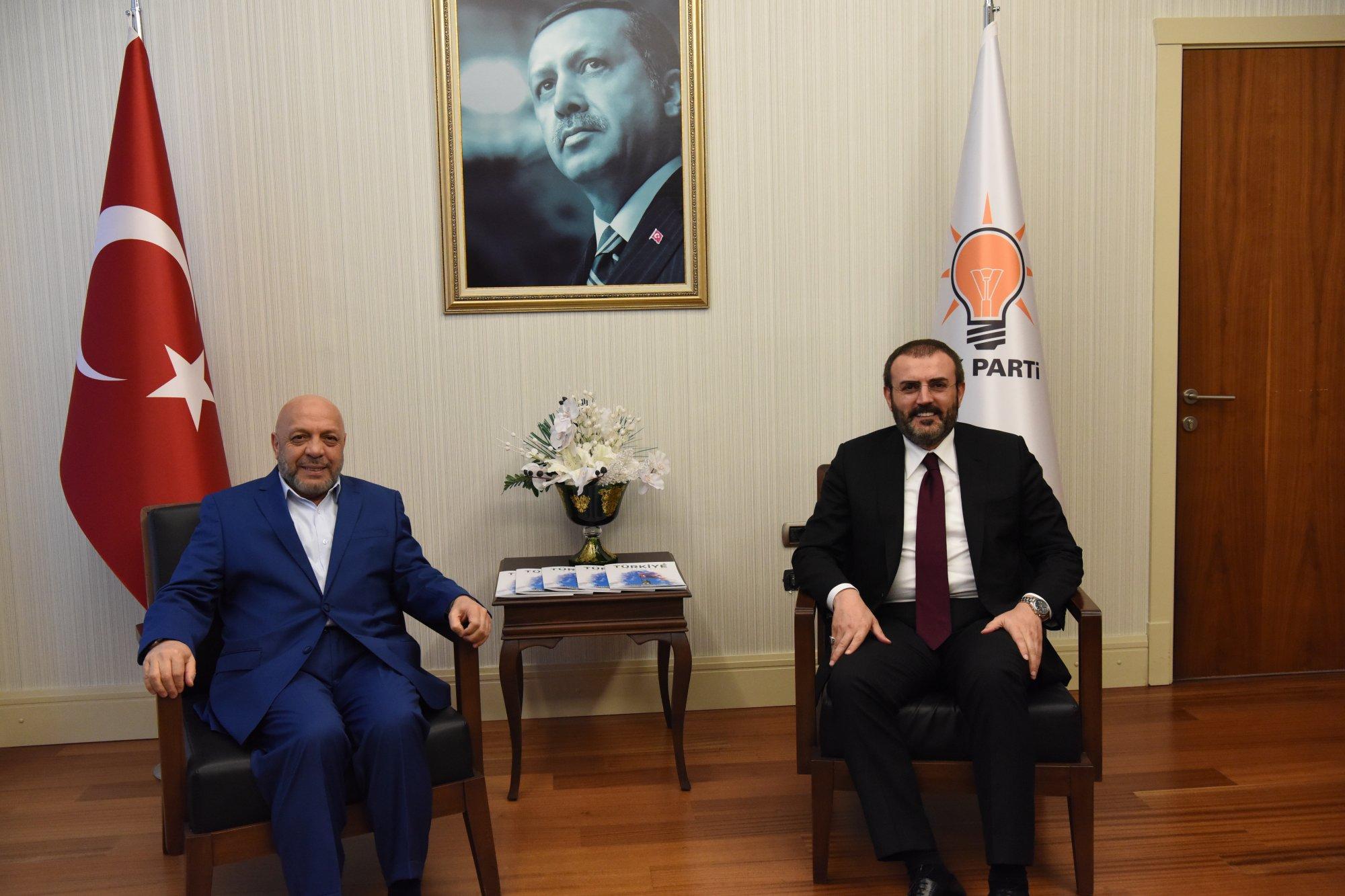ARSLAN, AK PARTİ GENEL BAŞKAN YARDIMCISI ÜNAL'I ZİYARET ETTİ