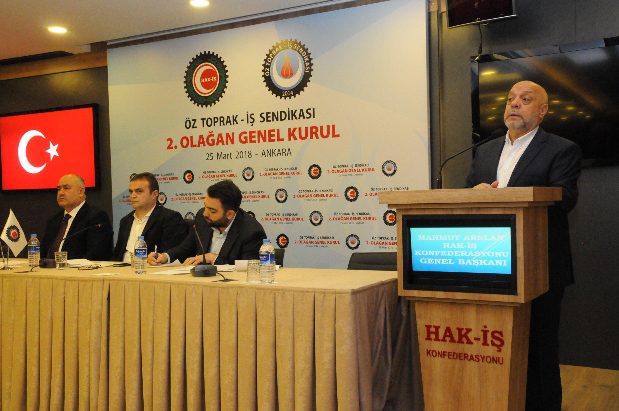 ARSLAN, ÖZ TOPRAK-İŞ SENDİKASI GENEL KURULU'NA KATILDI