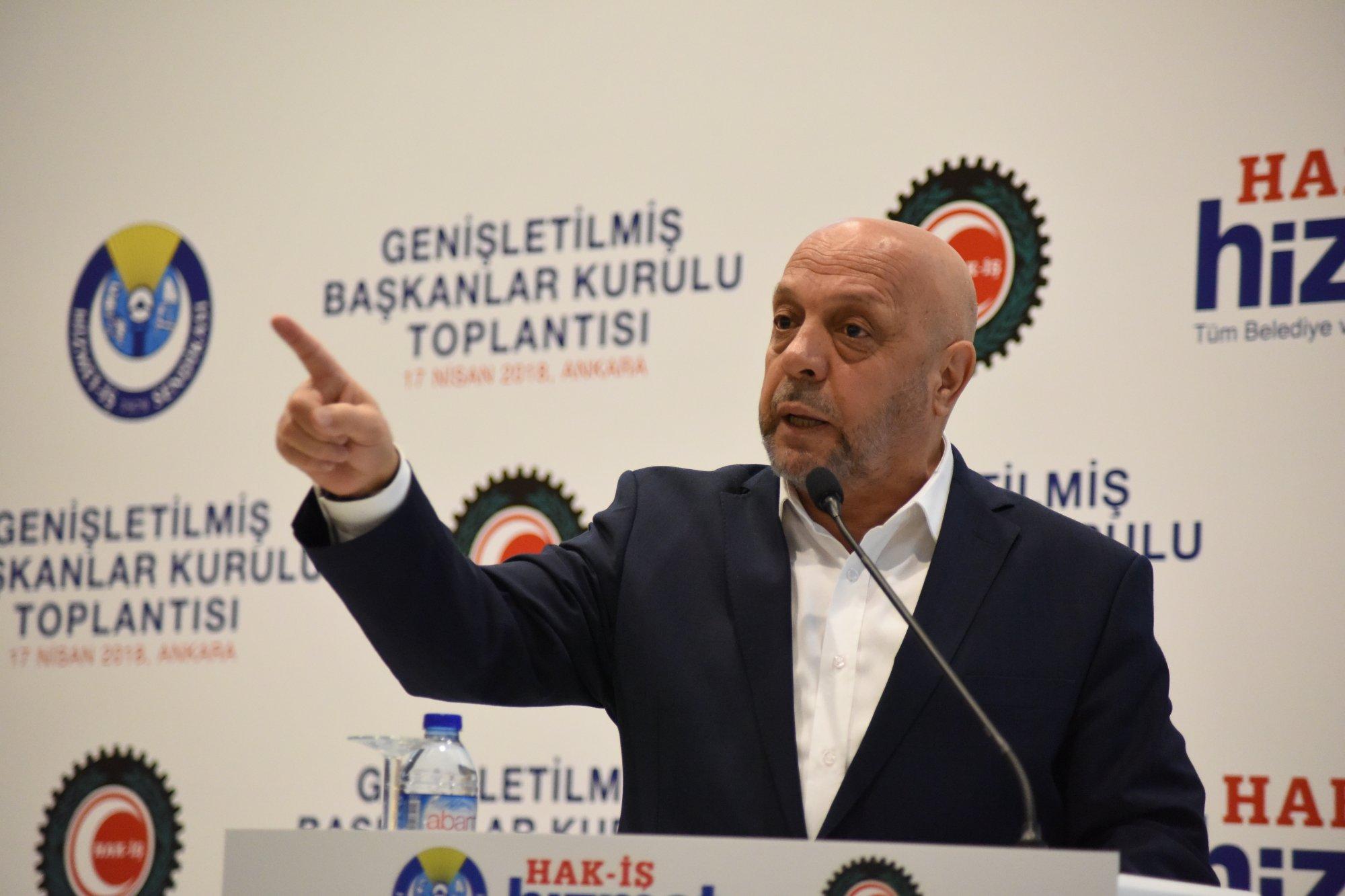 ARSLAN, HİZMET-İŞ GENİŞLETİLMİŞ BAŞKANLAR KURULU'NA KATILDI