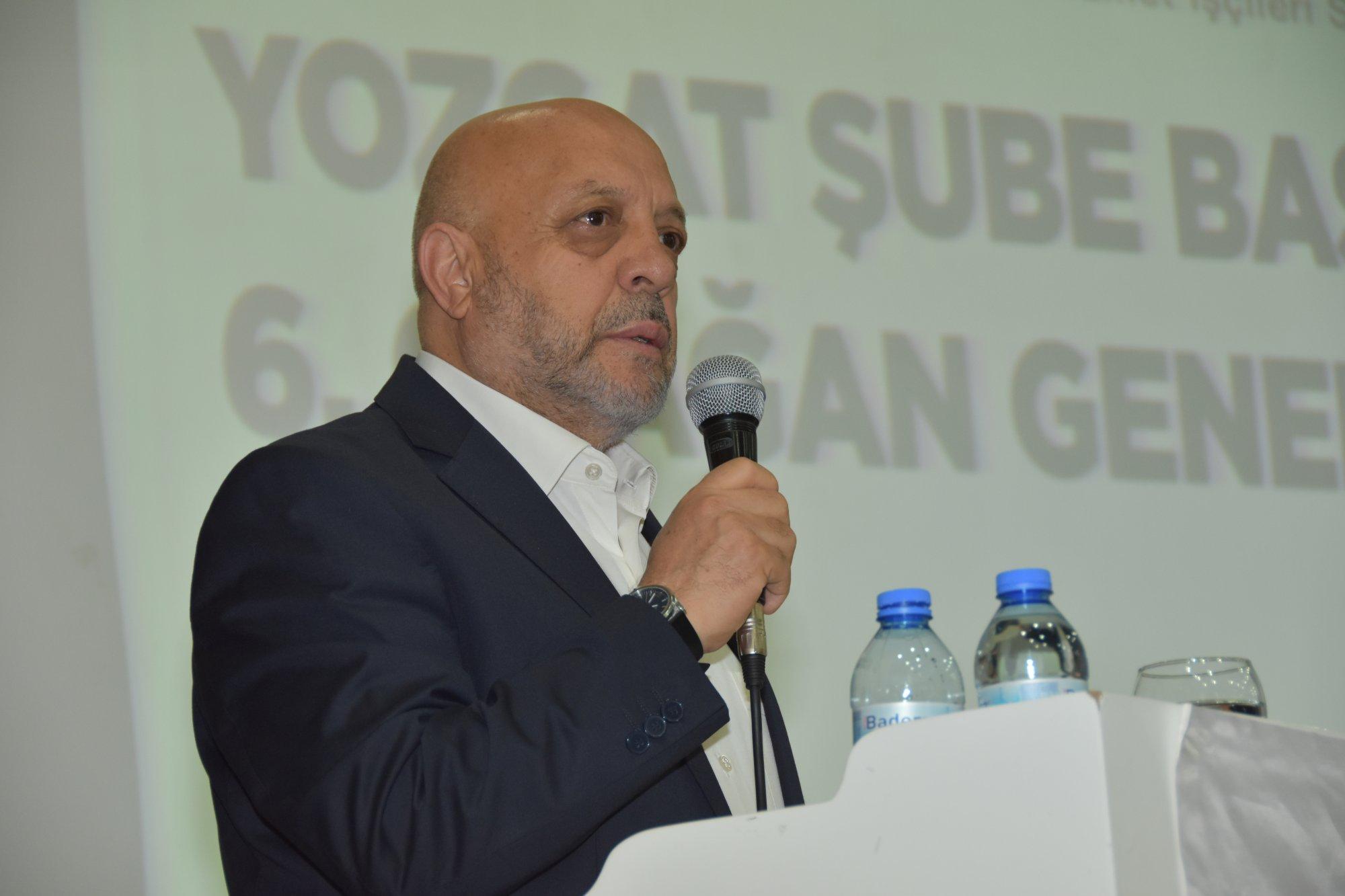 ARSLAN HİZMET-İŞ YOZGAT ŞUBE GENEL KURULUNA KATILDI