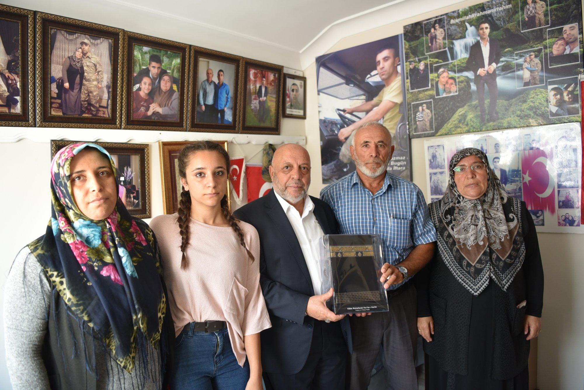 ARSLAN ANKARA'DA ŞEHİT KAVCI'NIN AİLESİNİ ZİYARET ETTİ