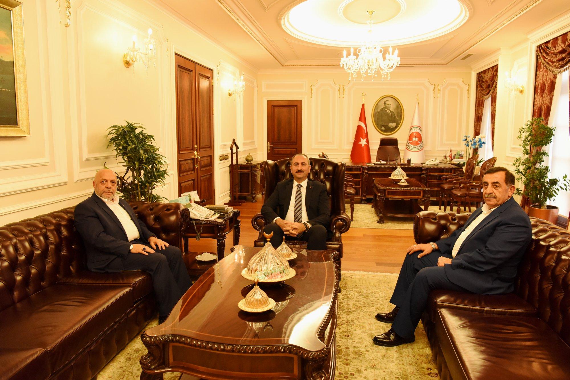ARSLAN, ADALET BAKANI GÜL'Ü ZİYARET ETTİ