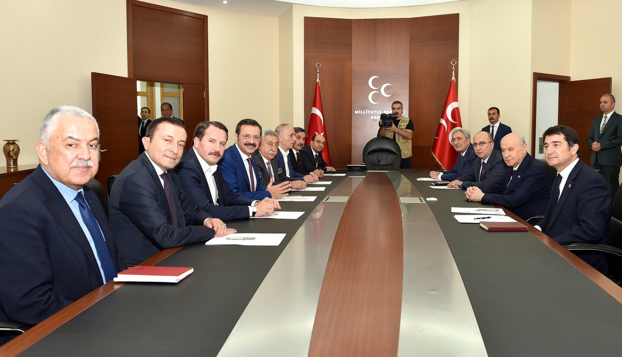 AB KİK ÜYELERİNDEN MHP VE İYİ PARTİ'YE ZİYARET