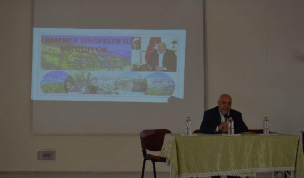 ARSLAN, KARAMAN'DA ÖĞRENCİLERLE BİR ARAYA GELDİ