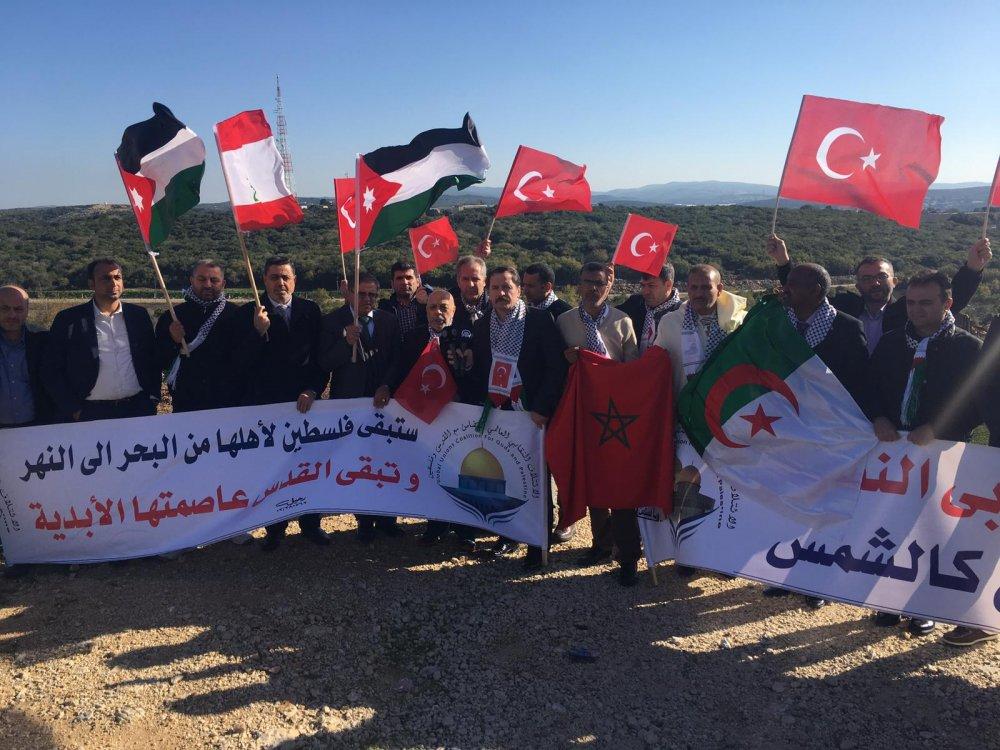 ARSLAN, İSRAİL'İ PROTESTO EYLEMİNE KATILDI