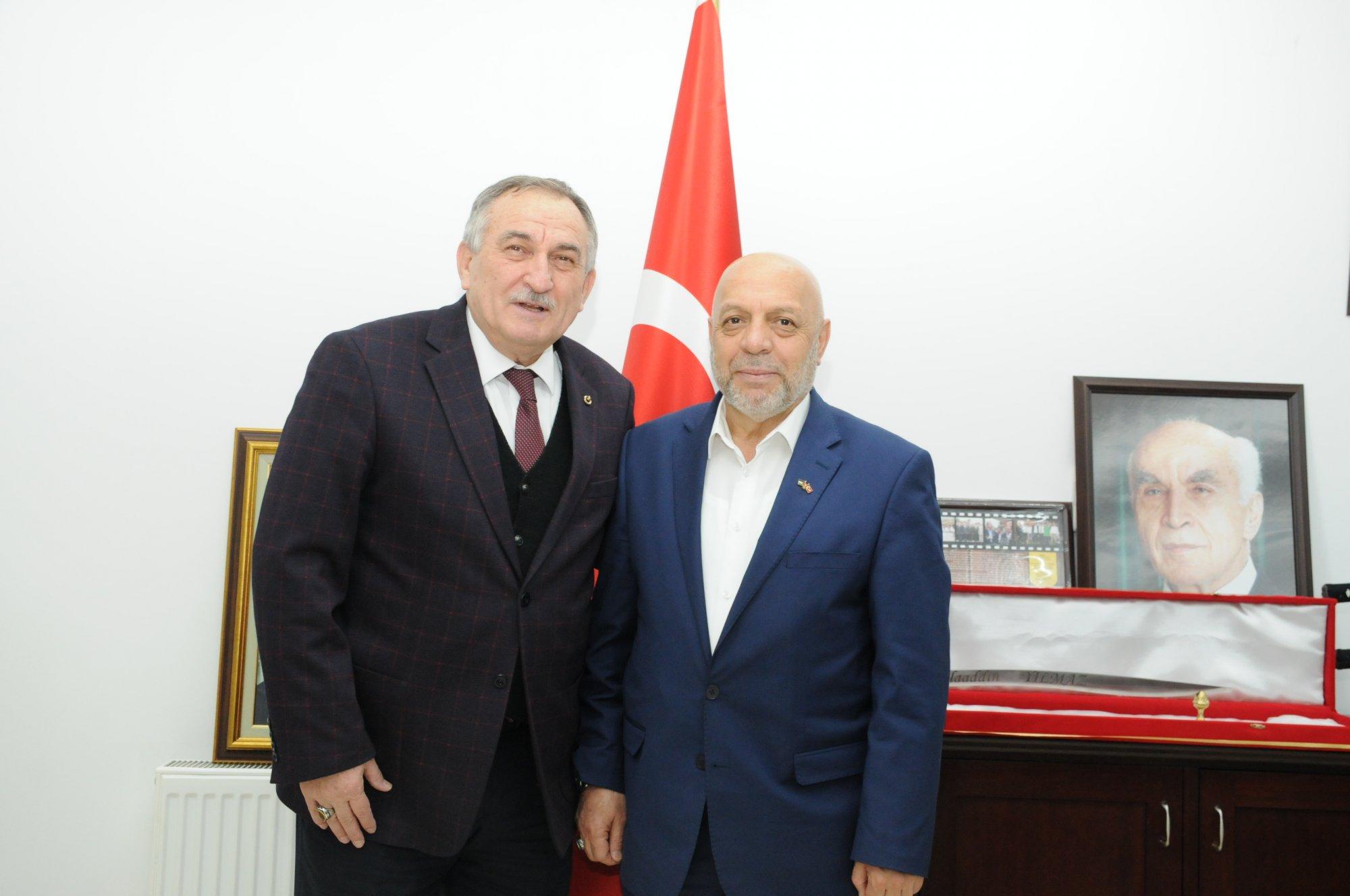 ARSLAN BOLU BELEDİYE BAŞKANI YILMAZ'I ZİYARET ETTİ