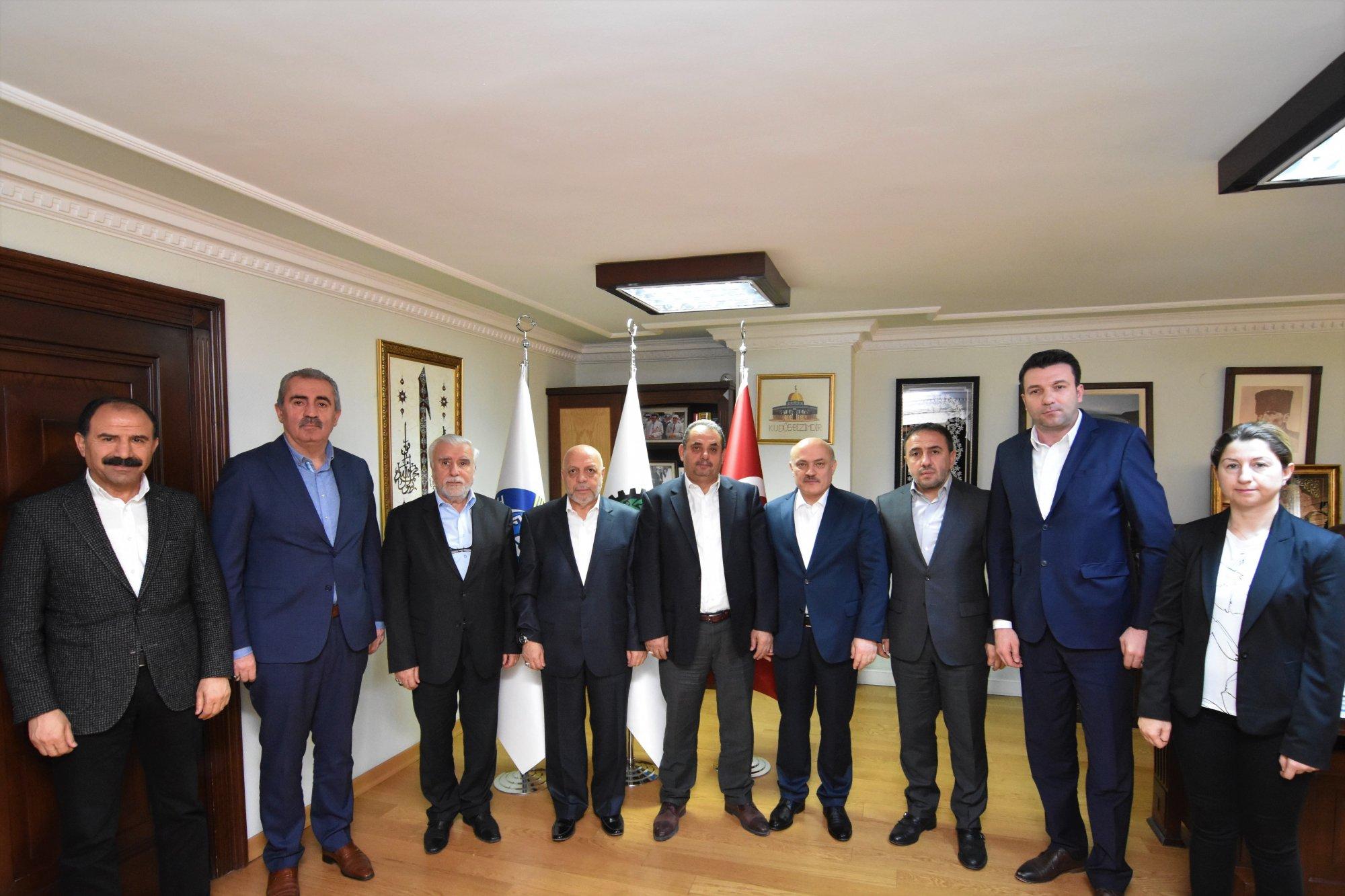 ARSLAN, ÖZÇELİK-İŞ BAŞKANI DEĞİRMENCİ'Yİ KABUL ETTİ