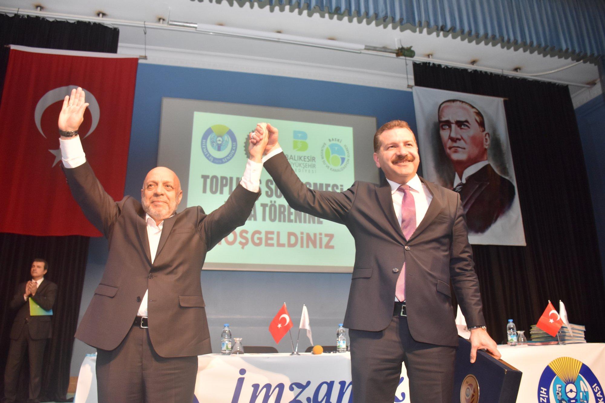 ARSLAN BALIKESİR'DE TİS İMZA TÖRENİNE KATILDI