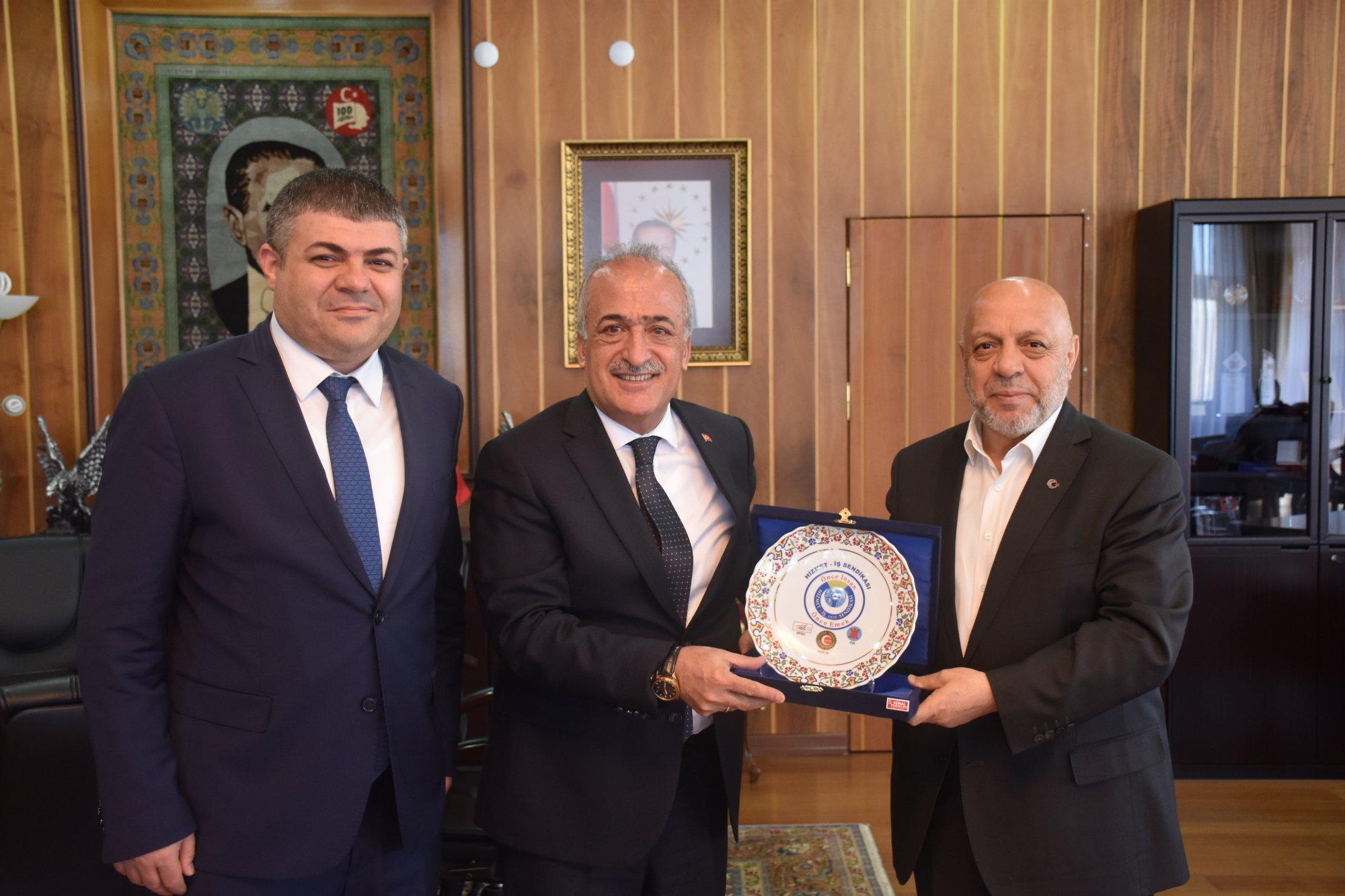 ARSLAN'DAN ATATÜRK ÜNİVERSİTESİ REKTÖRÜ ÇOMAKLI'YA ZİYARET