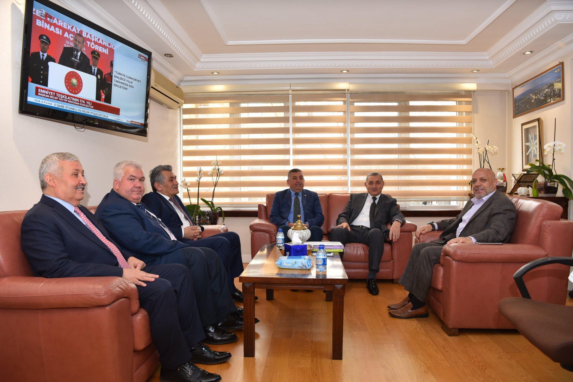 ARSLAN, ÖZ ORMAN-İŞ BAŞKANI SETTAR ASLAN'I KABUL ETTİ