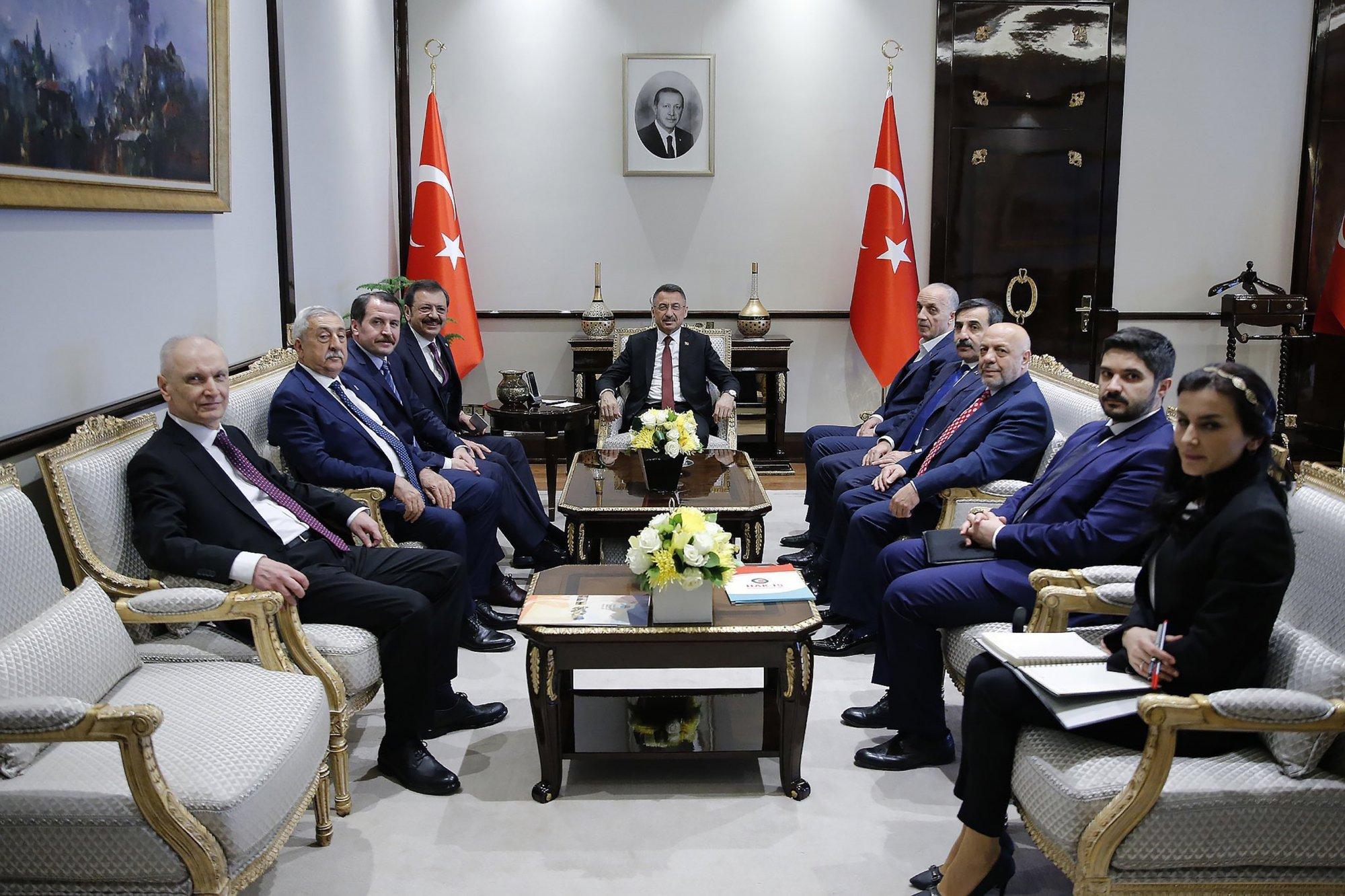 AB KİK HEYETİNDEN CUMHURBAŞKANI YARDIMCISI OKTAY'A ZİYARET