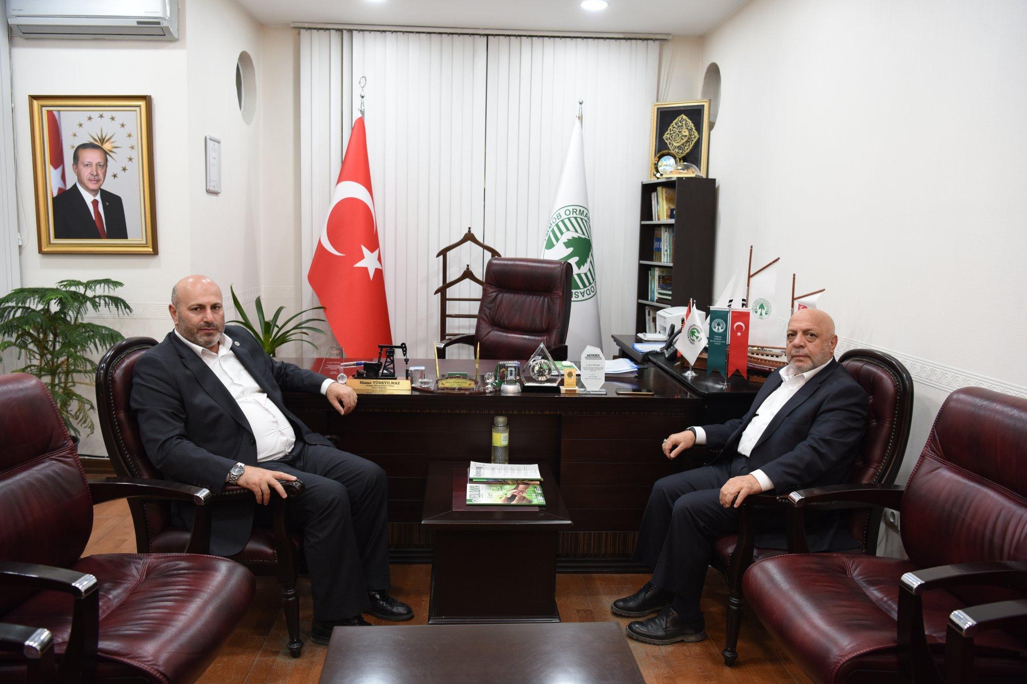 ARSLAN'DAN ORMAN MÜHENDİSLERİ ODASI BAŞKANI TÜRKYILMAZ'A ZİYARET