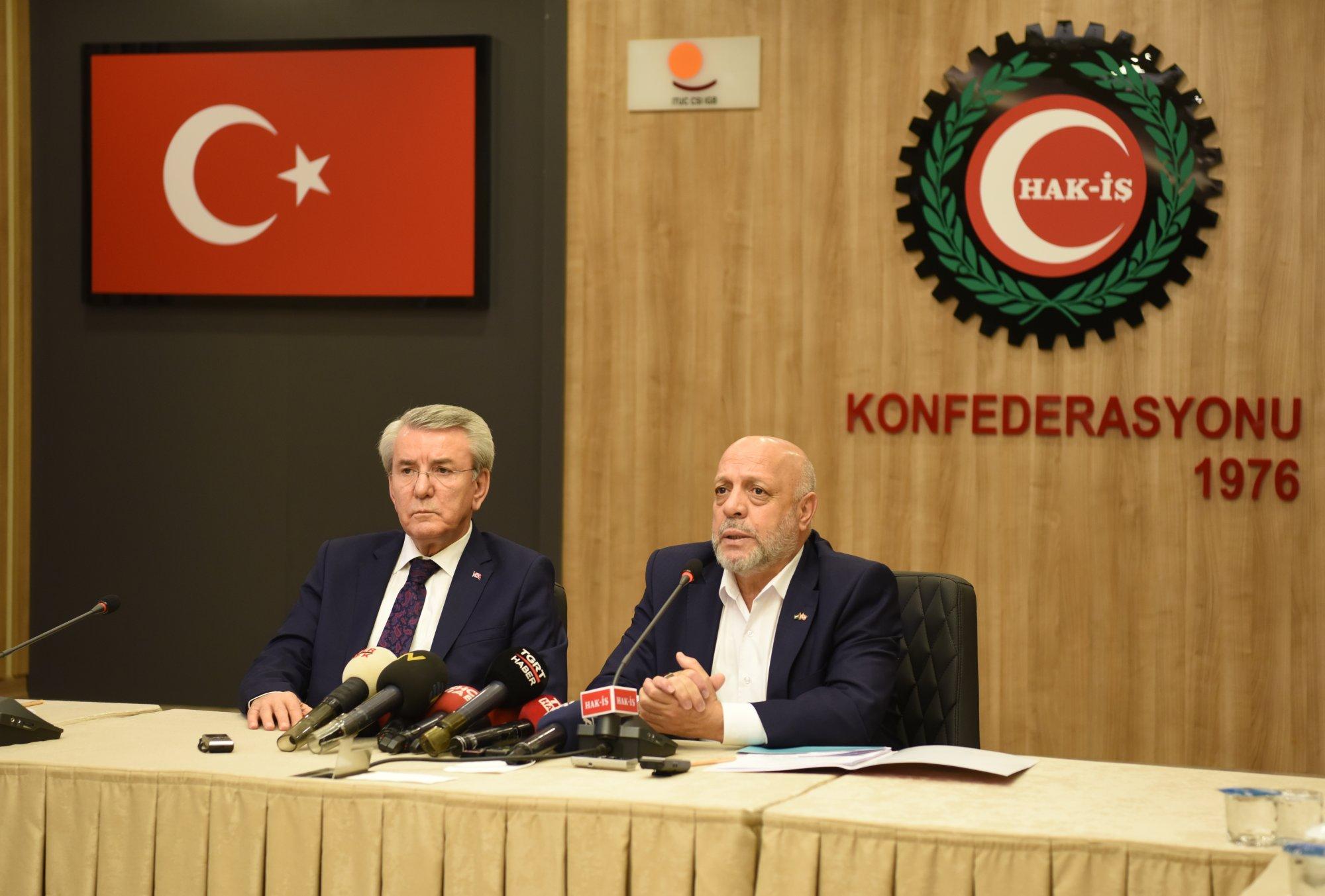 ARSLAN, TÜRK-İŞ HEYETİNİ KABUL ETTİ