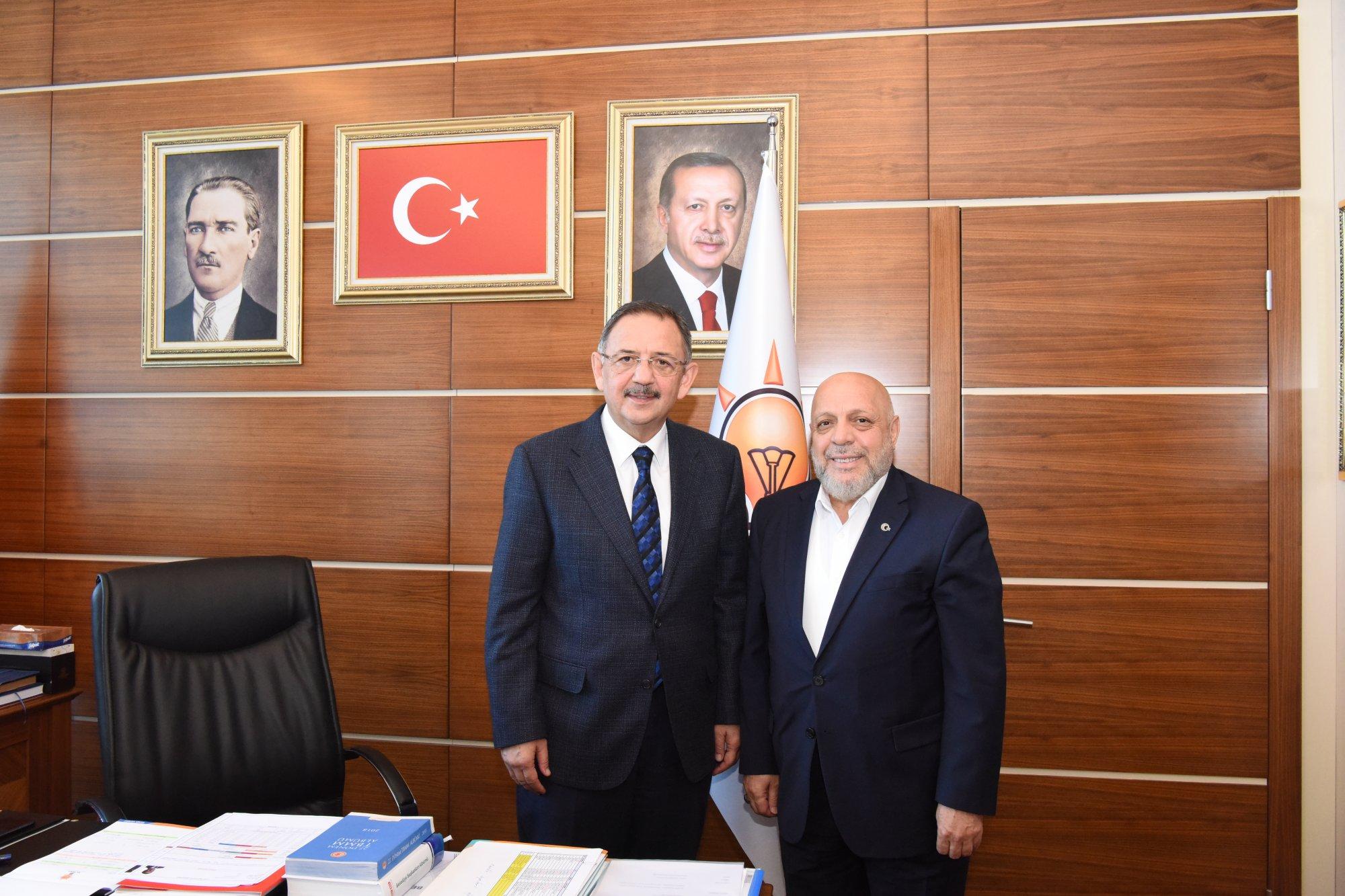 ARSLAN'DAN AK PARTİ GENEL BAŞKAN YARDIMCISI ÖZHASEKİ'YE ZİYARET