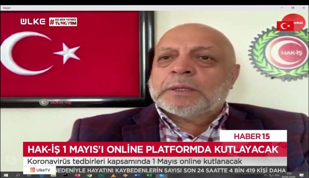 ARSLAN, ÜLKE TV CANLI YAYININA KATILDI