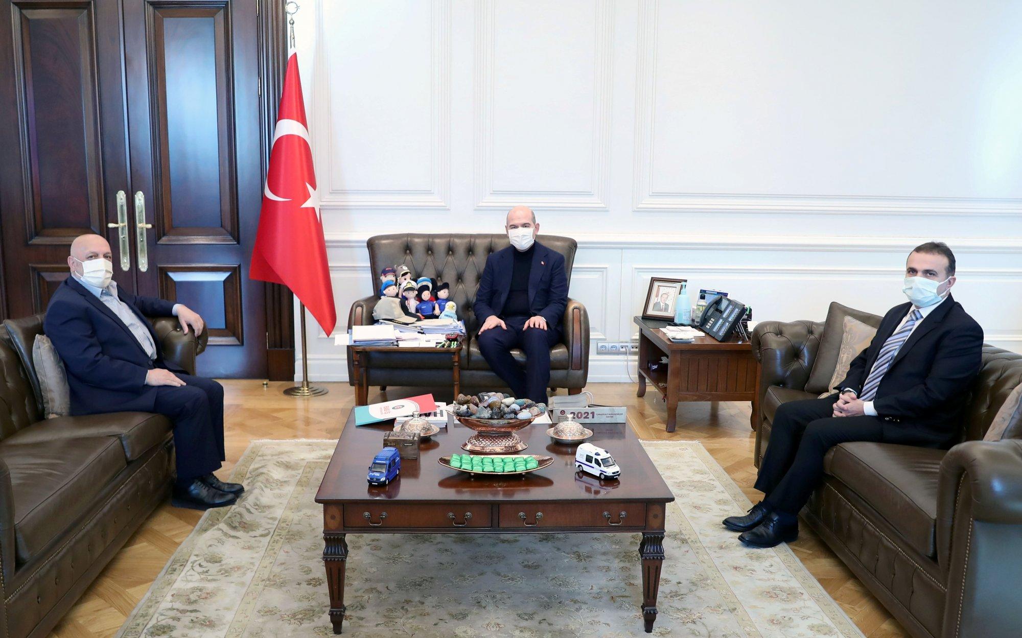 İÇİŞLERİ BAKANI SOYLU'YU ZİYARET ETTİK
