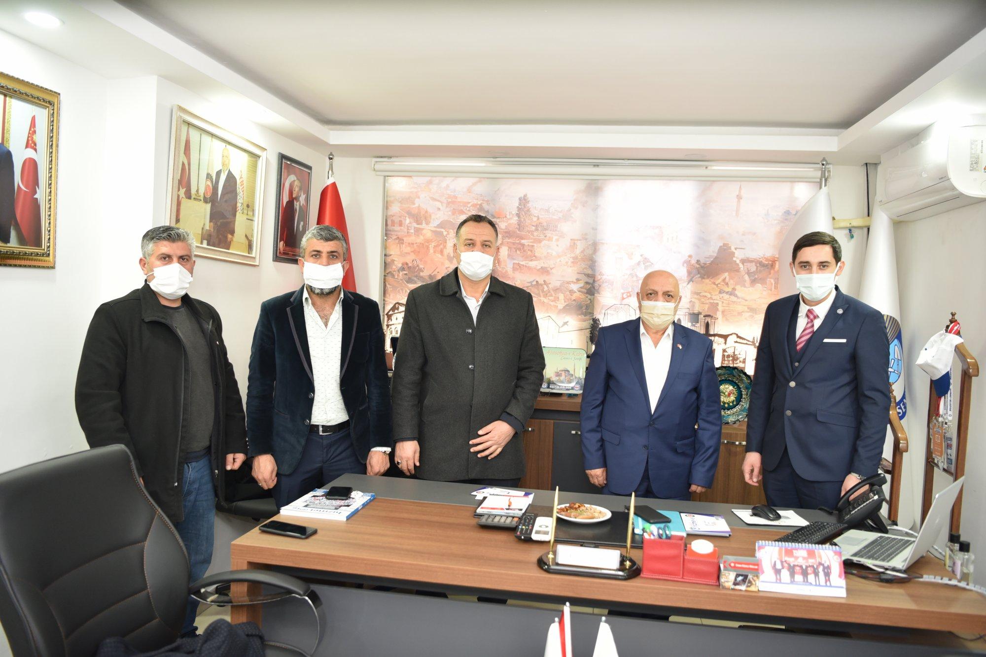 ARSLAN, GAZİANTEP'TE ŞUBE BAŞKANLIĞI'NI ZİYARET ETTİ